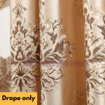 Luxury European Style Brown Mocha Swag Valance Drapes