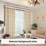 European Style Beige Blackout Window Swag Curtain Panel Drapes