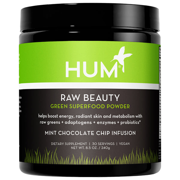 HUM Nutrition Raw Beauty Mint Chocolate Chip Infusion