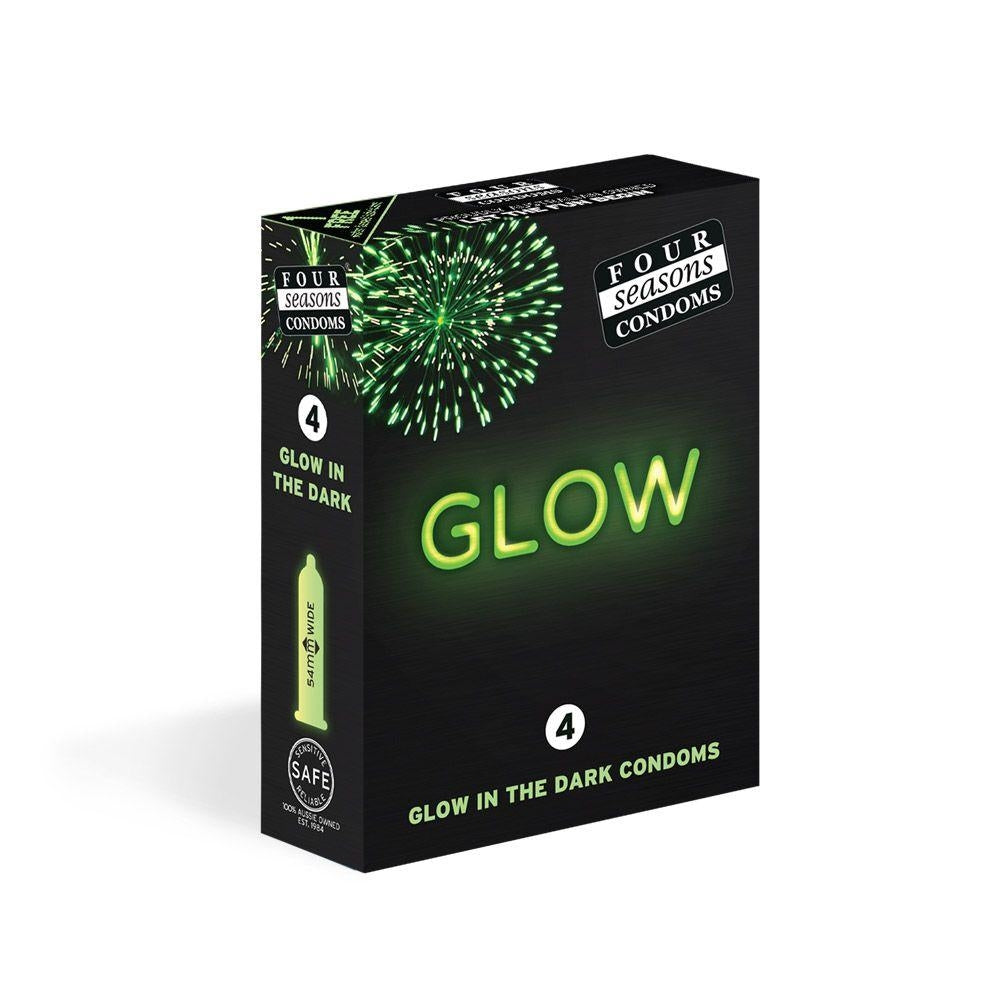 Four Seasons 4 Glow In Dark Condoms