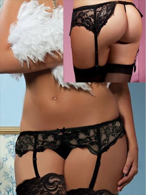 Black Lace Garter Belt (12) Xl