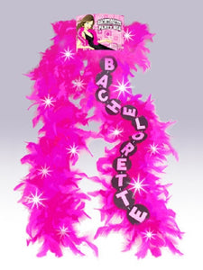 Bachelorette Flashing Feather Boa Pink
