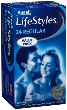 Ansell Lifestyles 24 Regular Condoms