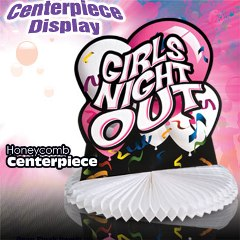 Girls Night Out Honeycomb Centerpiece