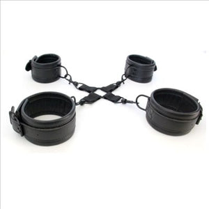 Thigh To Ankle Or Wrist Cuffs With Hog Tie