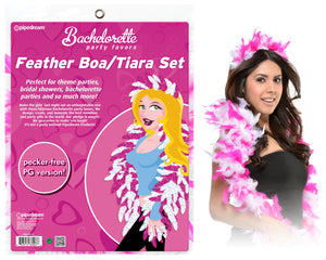 Bp Feather Tiara And Boa Set