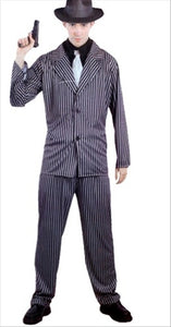 Pinstripe Men's Gangster Costume One Size