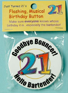 Just Tuned 21 Flashing Musical Birthday Button