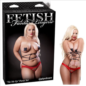 Fetish Tie Me Up Panty Set Size Q