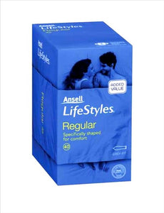 Ansell Lifestyles 40 Regular Condoms