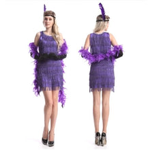 Load image into Gallery viewer, Purple 1920's Flapper Costume 2xl