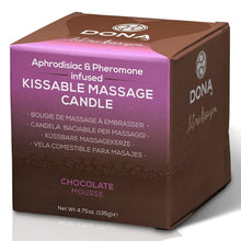 Load image into Gallery viewer, Dona Kissable Massage Candle Chocolate Mouse 135g