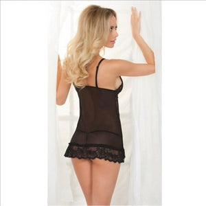 Black Floral Lace Babydoll (12) Xl