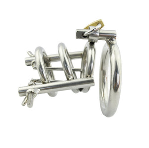 Stainless Steel Penis Stretcher & Male Chastity Device