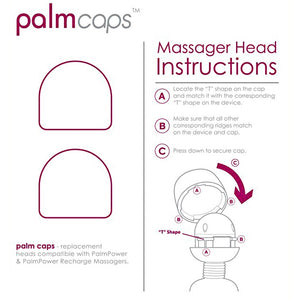 Palmcaps 2 Silicone Massager Heads