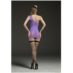 One Shoulder Body Stocking Dress