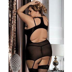 Erotic Black Babydoll Set (12-14) Xl