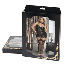 Load image into Gallery viewer, Erotic Black Babydoll Set (12-14) Xl