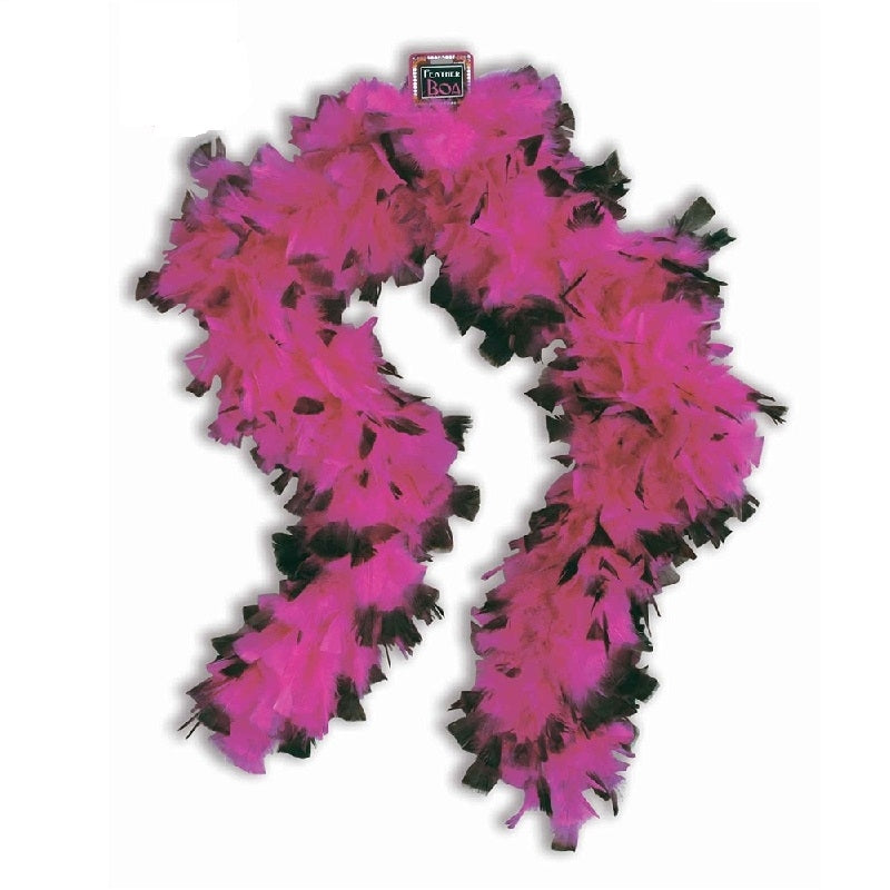 Feather Boa Pink & Black