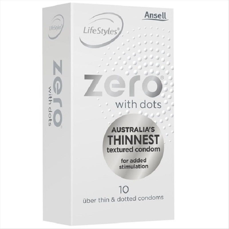 Ansell Lifestyles Zero W Dots Uber Thin 10s Condoms
