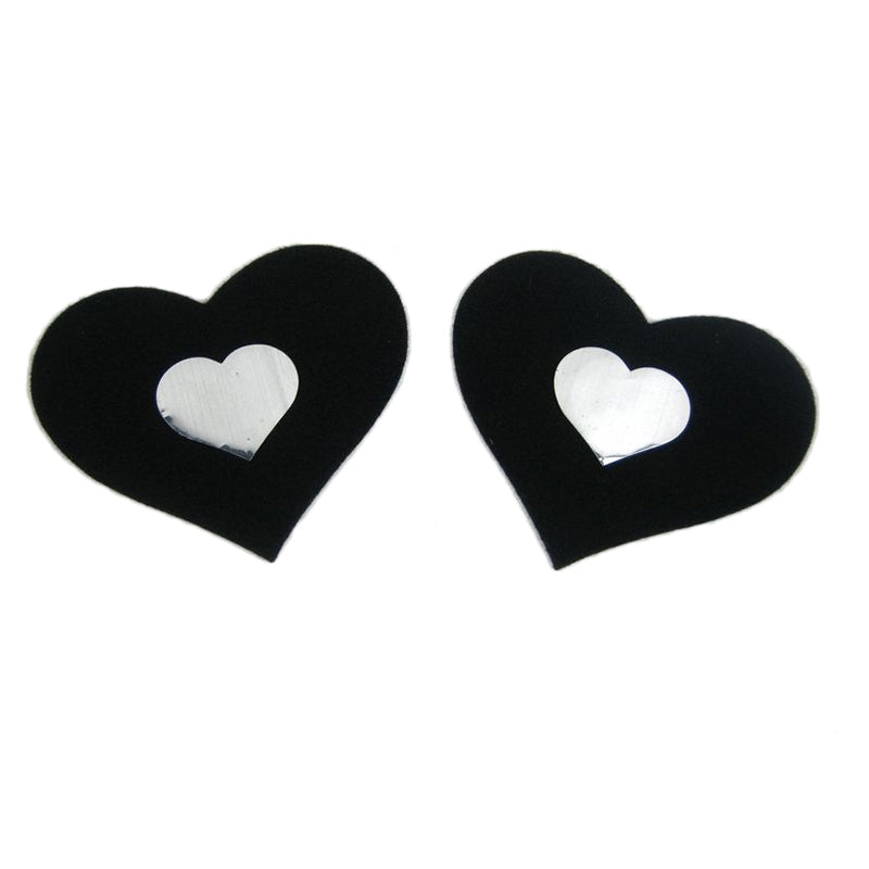 Nipple Cover Heart Black/white