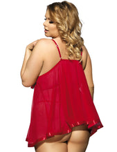 Load image into Gallery viewer, Red Floral Bra Babydoll (22) 5xl