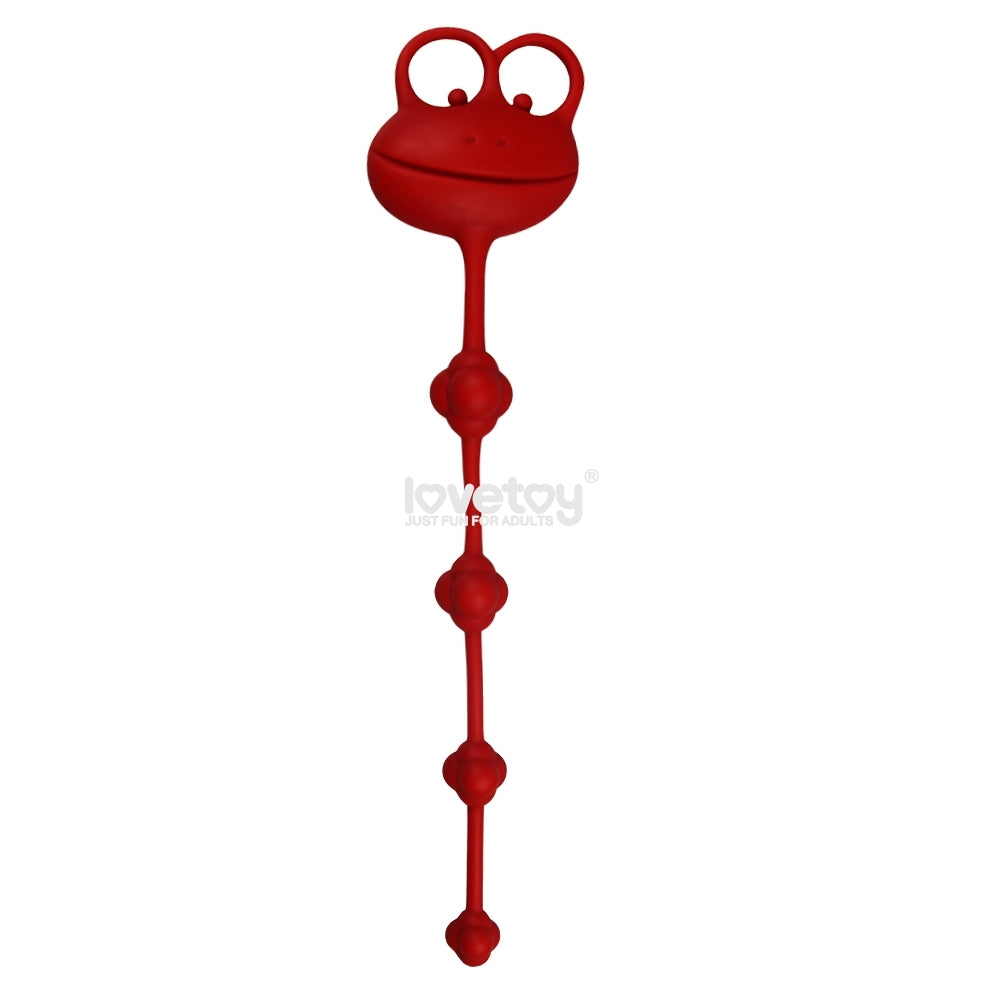 Silicone Frog Anal Beads Red 25.4cm