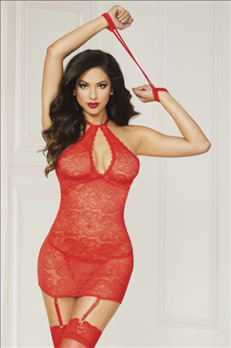Swinging Chemise Set 10844p Red Os