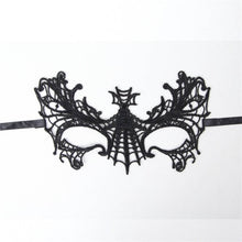 Load image into Gallery viewer, Black Butterfly Lace Eye Mask
