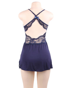 Dark Blue Modal Sleepwear (12-14) Xl