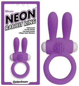 Neon Rabbit Ring Purple