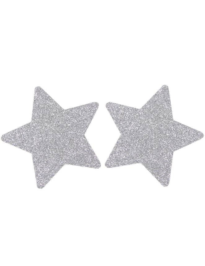 Nipple Cover Star White Glitter