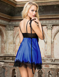 Satin Babydoll Blue (20-22) 5xl