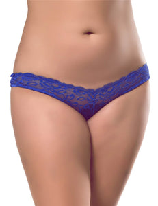 Caged Open Crotch Panty Blue (20-22) 3xl