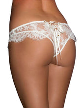 Load image into Gallery viewer, White Ribbon Eyelash Lace Panty (18) 3xl