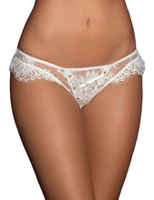 Load image into Gallery viewer, White Ribbon Eyelash Lace Panty (16) 2xl