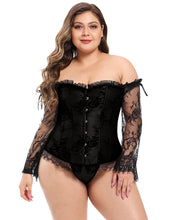 Load image into Gallery viewer, Black Corset W/ Lace Sleeves (20) 4xl