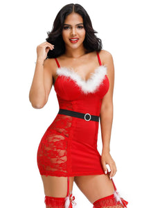 Christmas Plush Babydoll (12-14) Xl