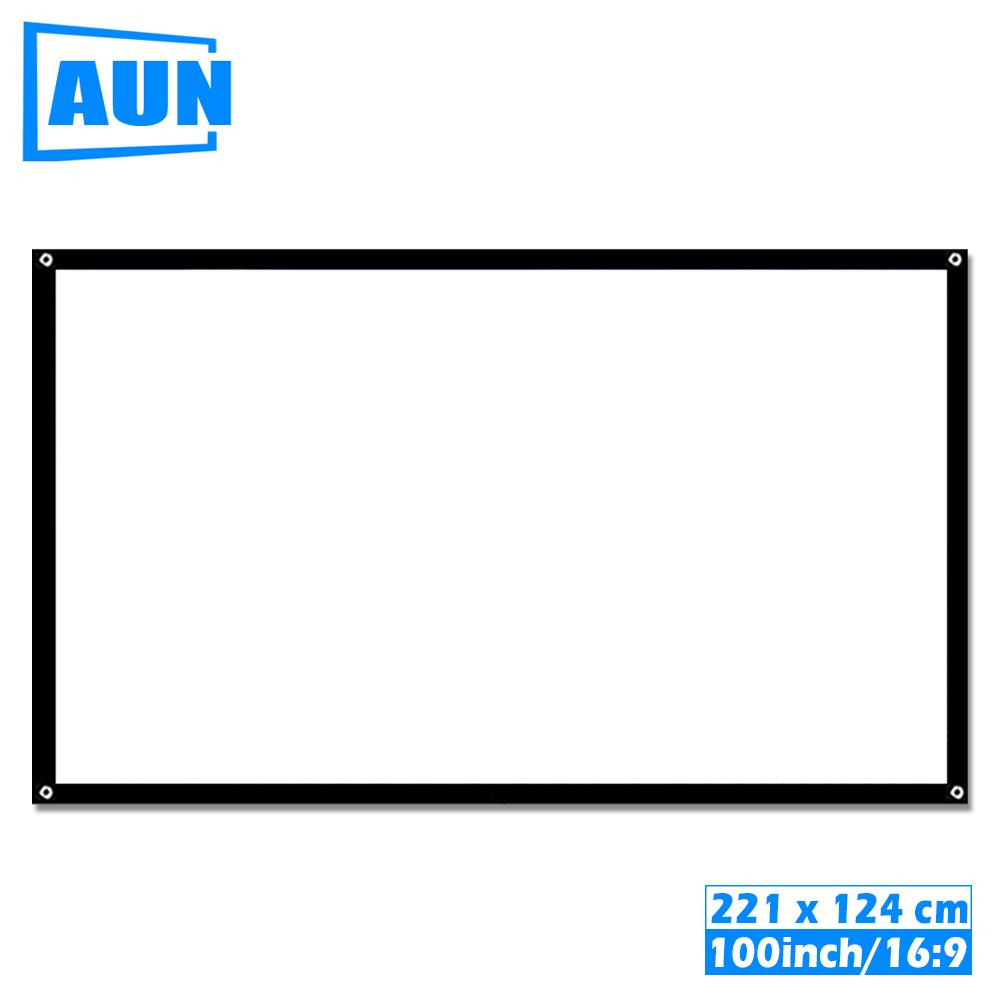 100 Inch 16:9 Portable Projector Screen White Cloth Material Outdoor Type