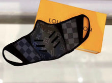 Load image into Gallery viewer, Black LV Louis Vuitton Luxury High End Facemask