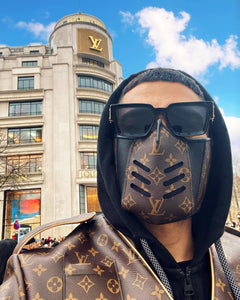 Brown LV Louis Vuitton Luxury High End Facemask