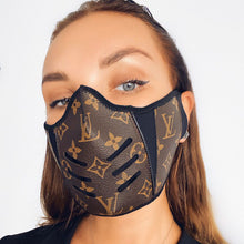 Load image into Gallery viewer, Brown LV Louis Vuitton Luxury High End Facemask