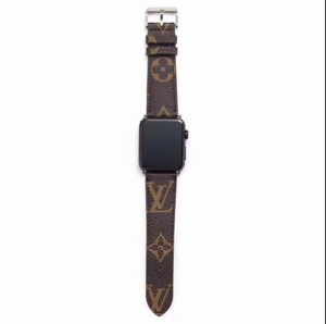 Brown LV Louis Vuitton Luxury High End Apple Watch band