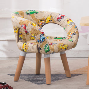 Children Table and Chair Kindergarten Wooden Stool Cartoon Sofa Lovely Baby Dining Table Stool Kids Furniture Toddler Chairs