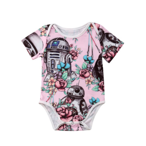 Summer Cute Newborn Baby Girl Clothes Bodysuit Short Sleeve Cotton Outfits Clothes Baby Girls 0-18M