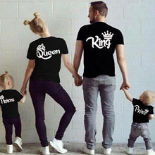 Load image into Gallery viewer, Cotton Matching Family Shirts Family Matching Clothes Matching Father Mother Daughter Son Clothes T-shirt King Queen T shirt
