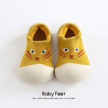 Load image into Gallery viewer, Baby sock Shoes Anti-slip Spring Cartoon animal Shoes Baby Girl baby boy Soft Rubber Sole shoes