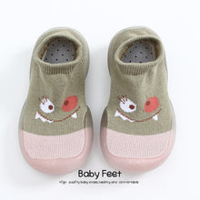 Load image into Gallery viewer, Baby Socks With Rubber Soles Cartoon baby shoes Infant Sock