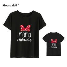 Load image into Gallery viewer, Cotton family matching clothes Outfits Mother And Daughter T-Shirt  Mommy and Me Clothes lovely Blouse kids baby girl boys Look