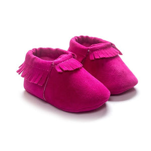 13 COLORS PU Suede Leather Newborn Baby Boy Girl Baby Moccasins Moccs Shoes Bebe Fringe Soft Soled Non-slip Footwear Crib Shoes
